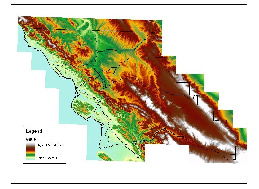 SLO DataFinder - Dem elevation data